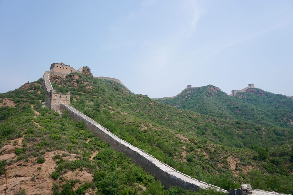 Steep parts of the Great Wall near Jinshanling