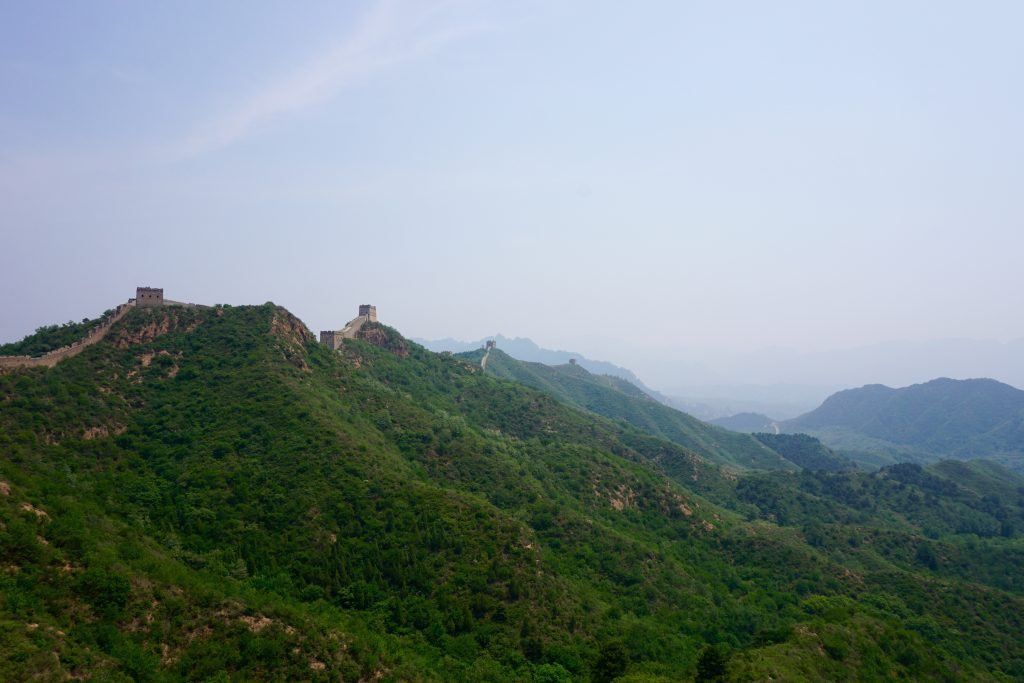 View of our hiking route down towards Simatai.