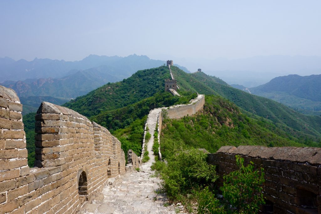 Amazing views of the wild part of the Great Wall.