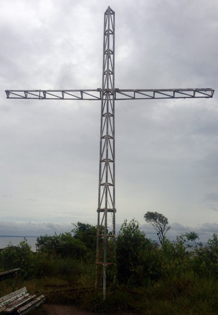 The cross atop the hill