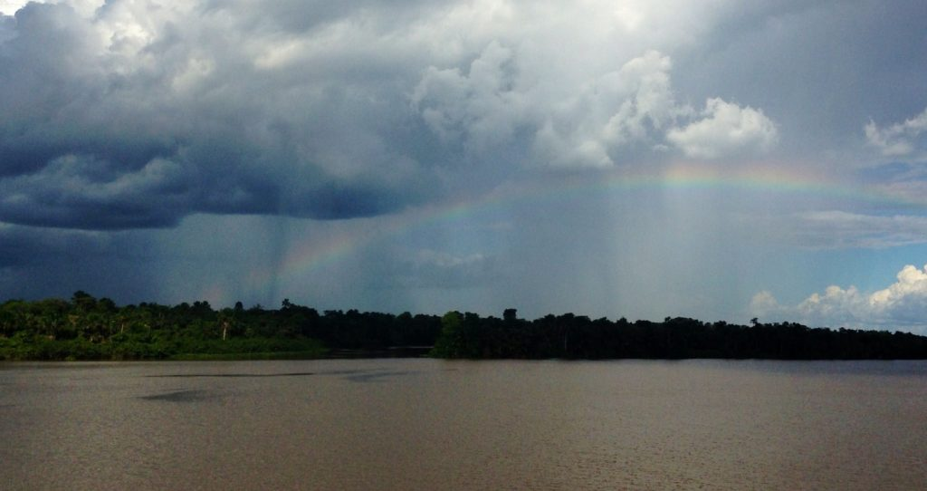 We saw some great rainbows over the Amazon River.