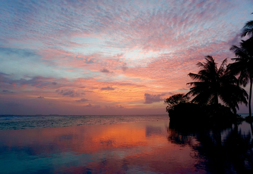 Our last night gave us an amazing sunset viewed from Veli's infinity pool.