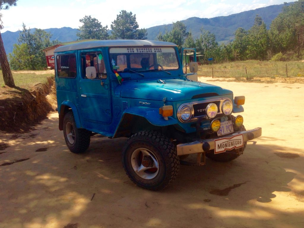Some taxis are 4wd, like this Land Cruiser taxi in Samaipata, Bolivia.