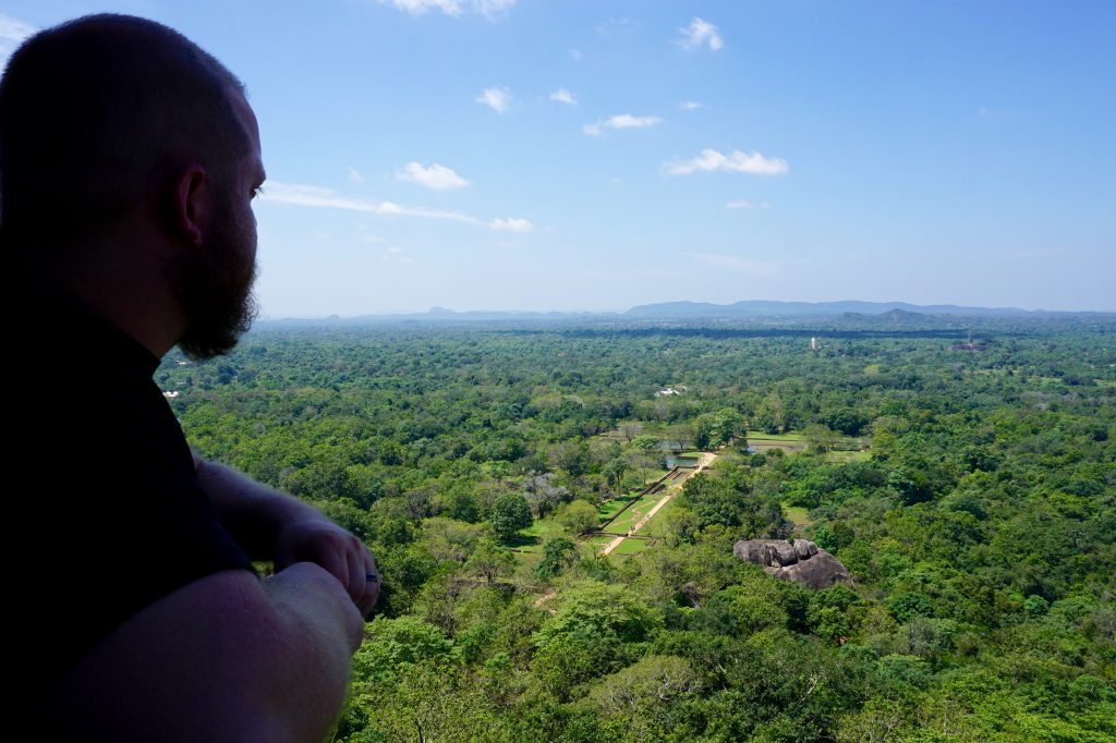 Looking out over the gardens of Sigiriya Rock.