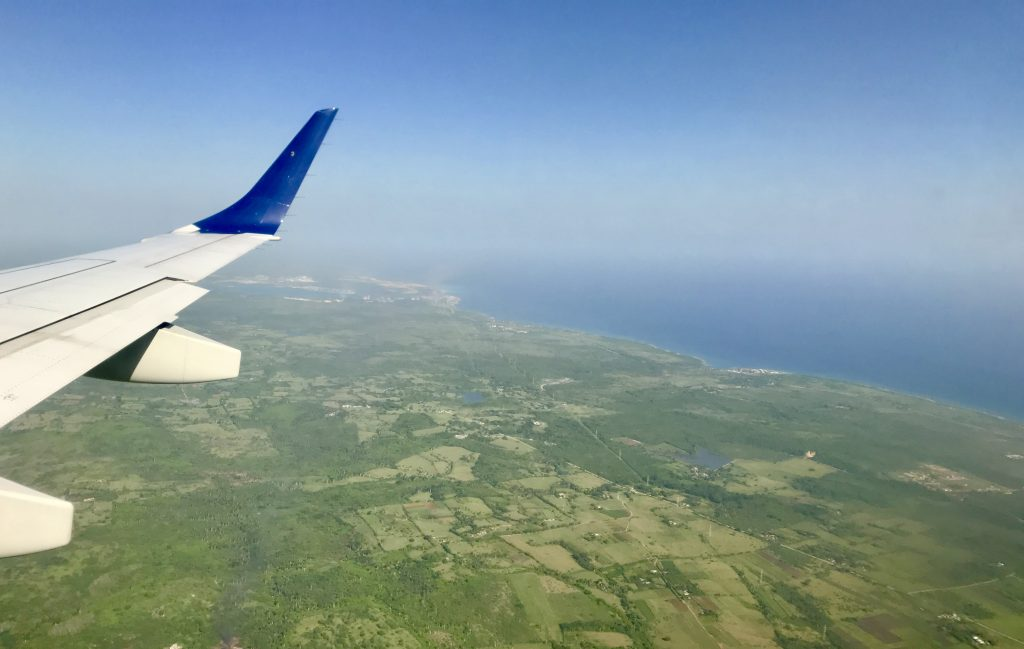 Flying into Cuba