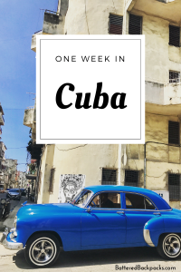 One Week in Cuba Pinterest