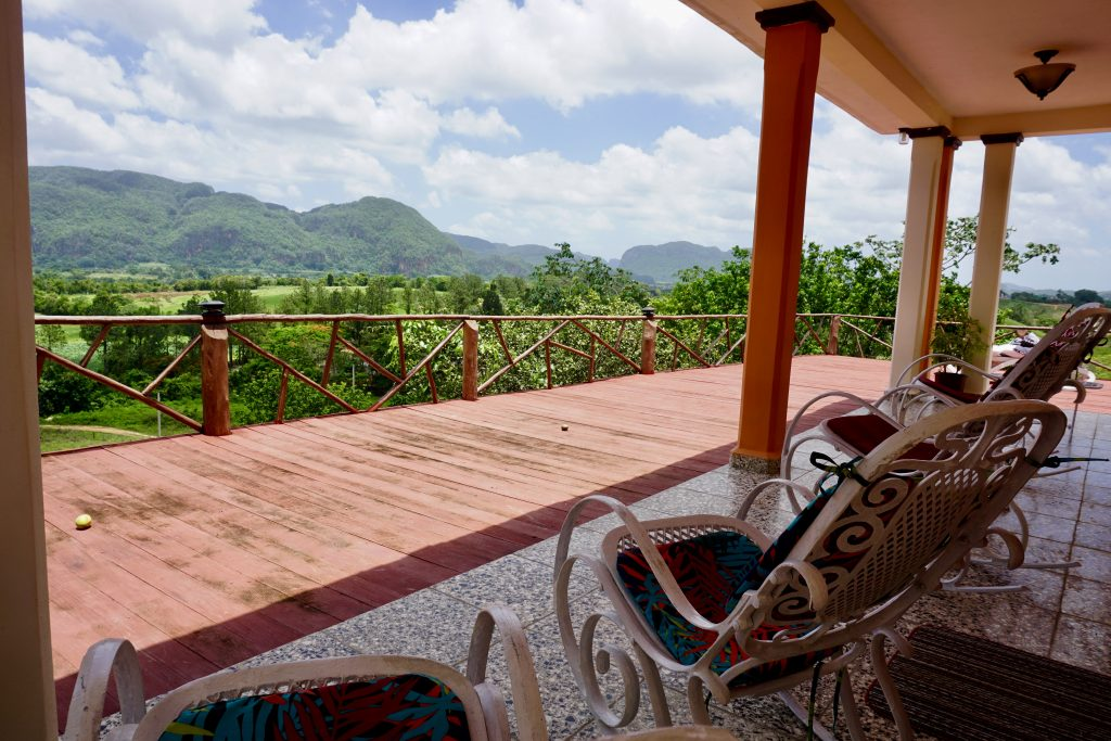 Porch view in Viñales