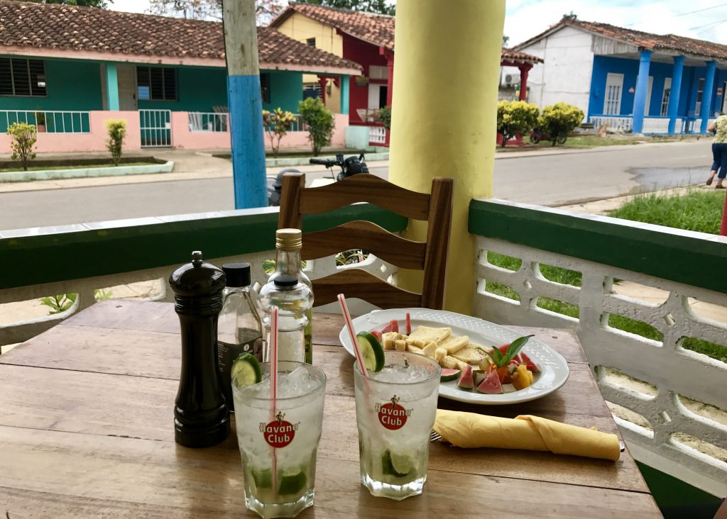 Caipirinhas made with Havana Club rum and quiejo coalho in Viñales