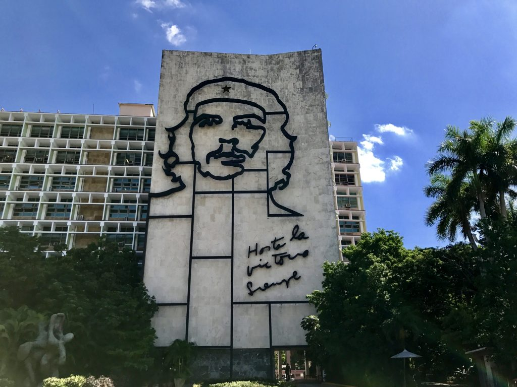 Che Guevara memorial at Plaza de la Revolución in Havana