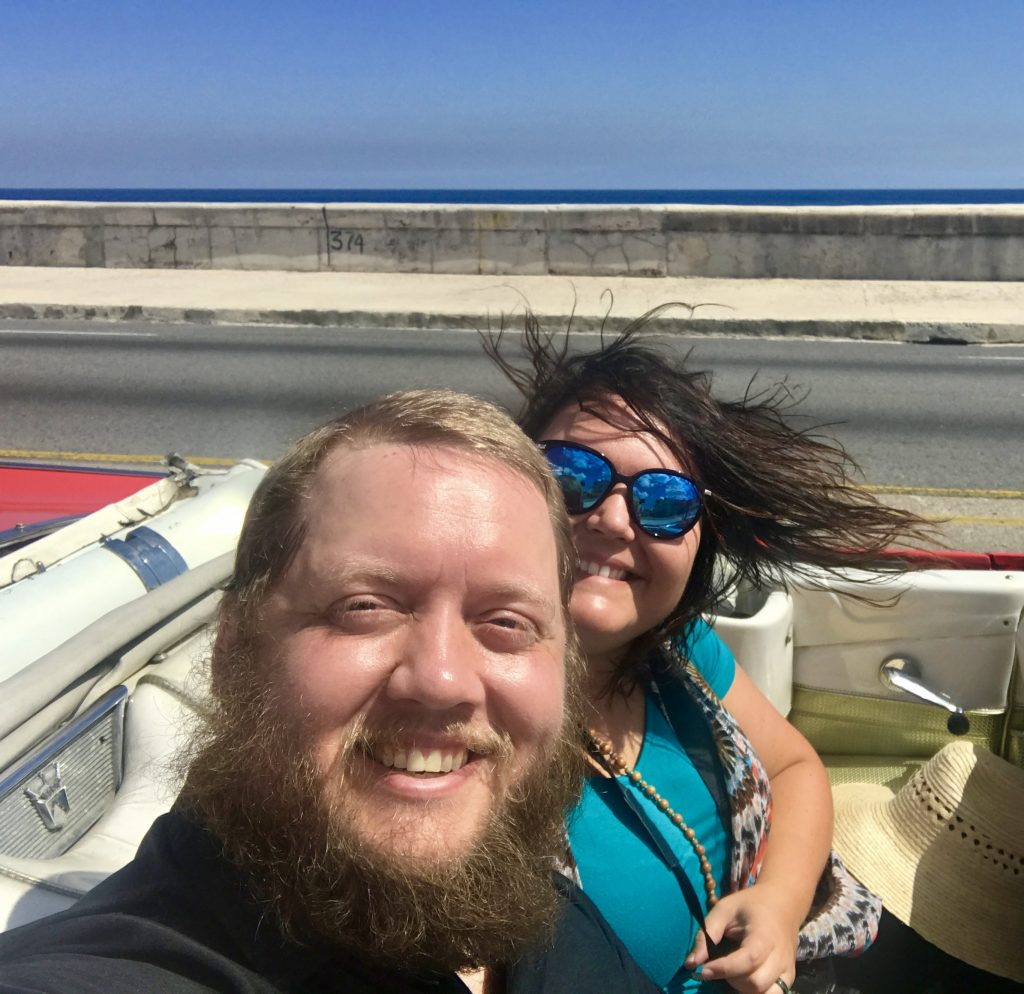 Riding down the Malecon